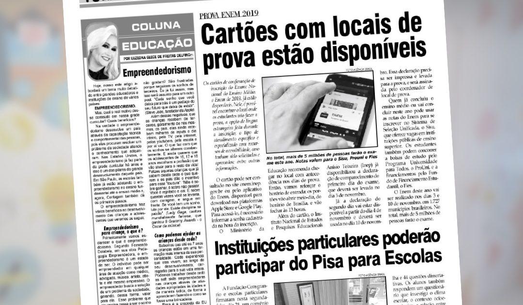 Coluna Educação – Empreendedorismo – Jornal O Folha de Contagem